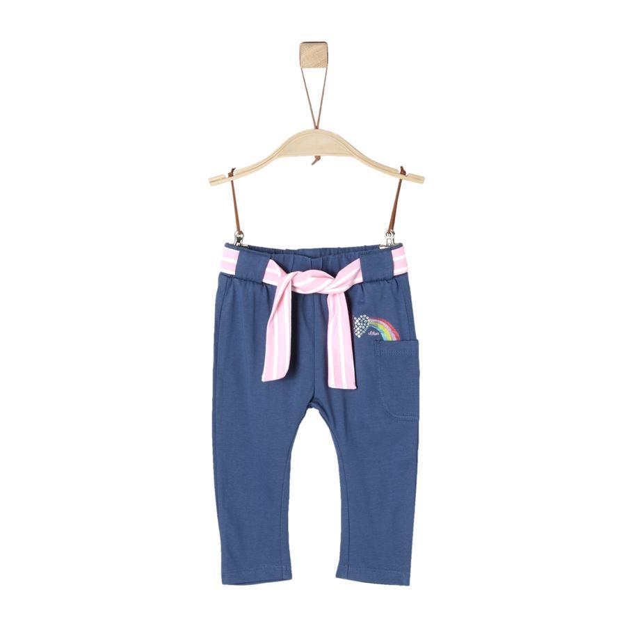 s. Olive r Kalhoty tmavě modré