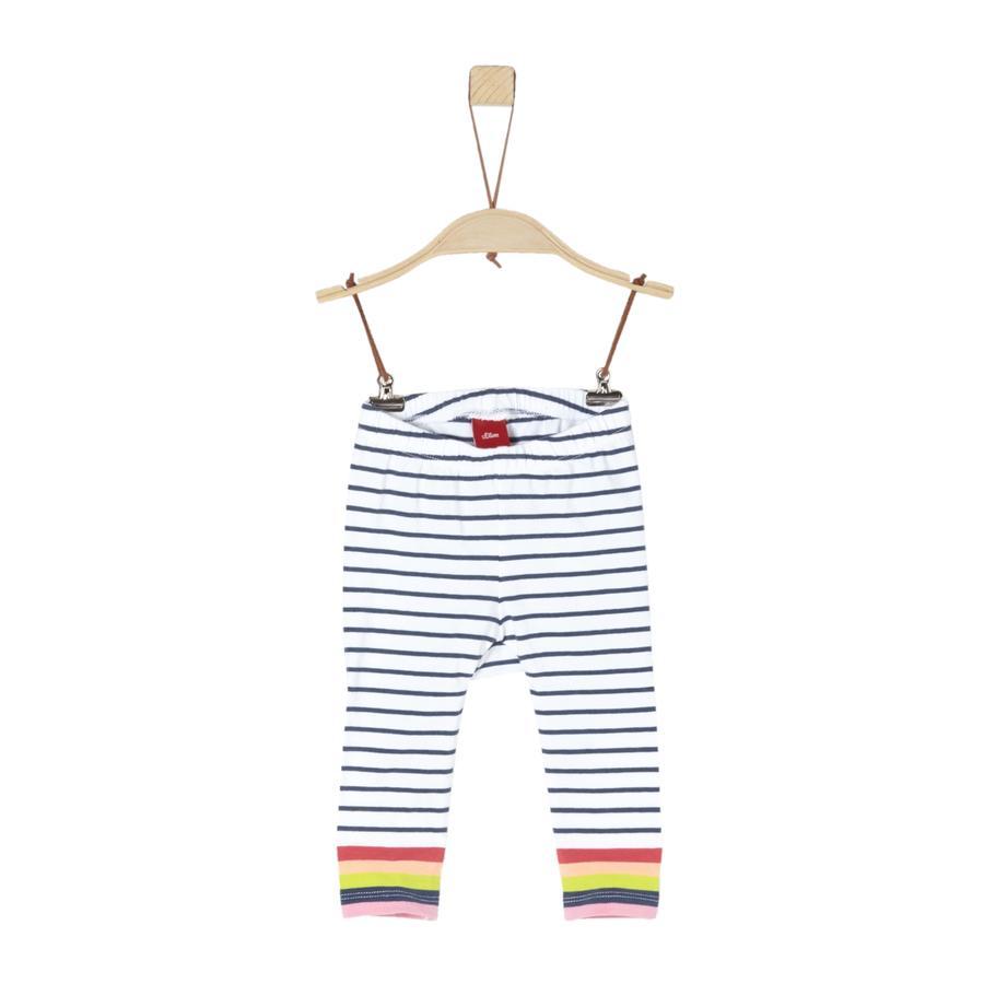 s. Olive r Kalhoty white stripes