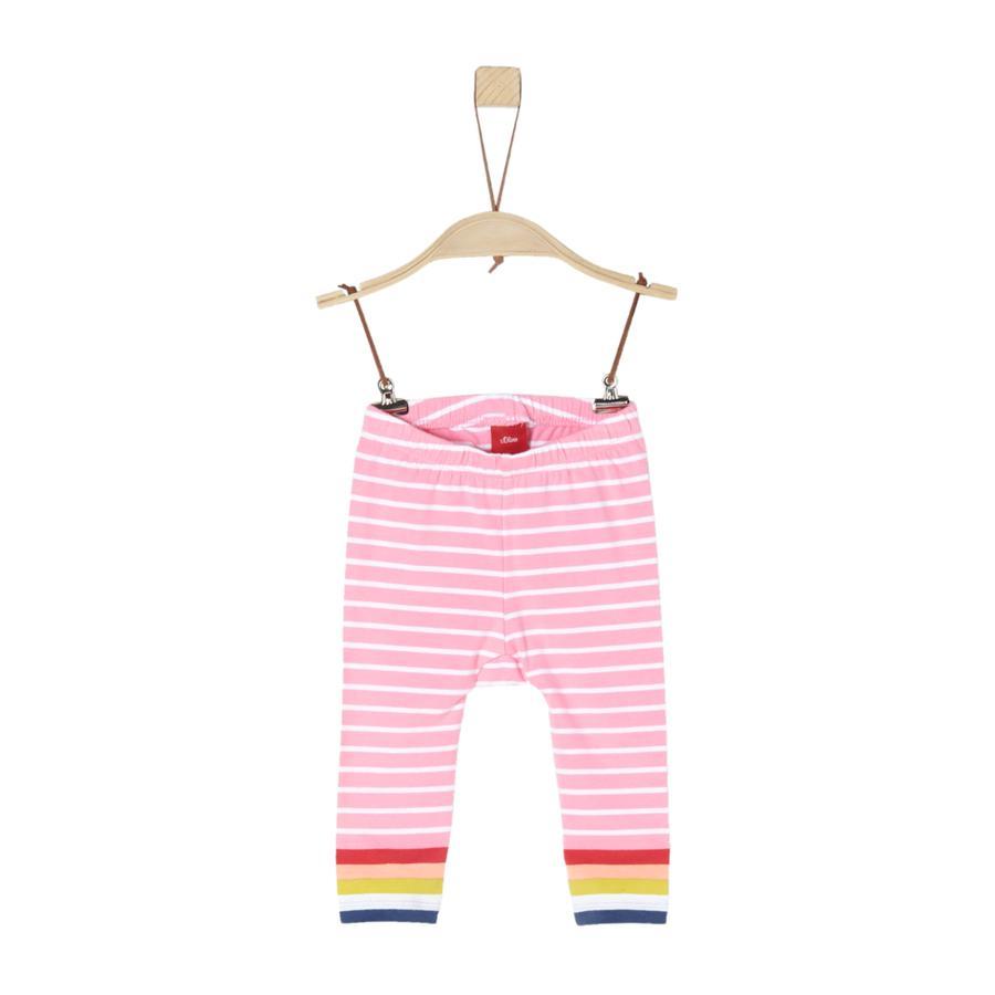 s.Oliver Pantaloni a righe rosa chiaro