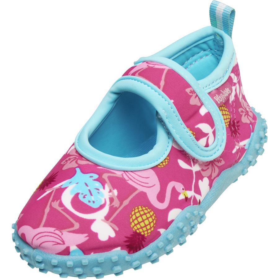 Playshoes UV-Schutz Aqua-Schuh Flamingo Badeschuh Hausschuh Klettverschluß