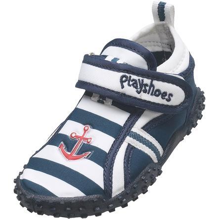 Playshoes Chaussons de bain enfant marin bleu/blanc