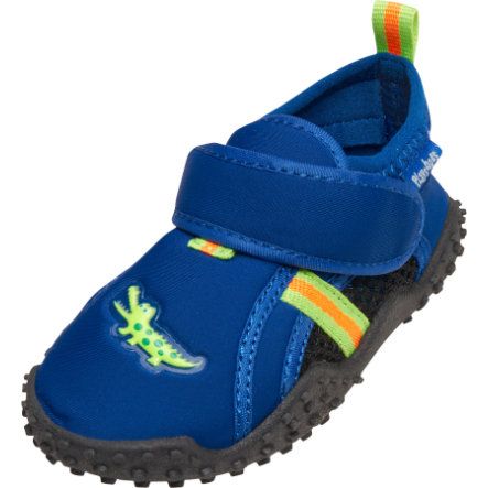 Playshoes Chaussons de bain enfant crocodile bleu marine