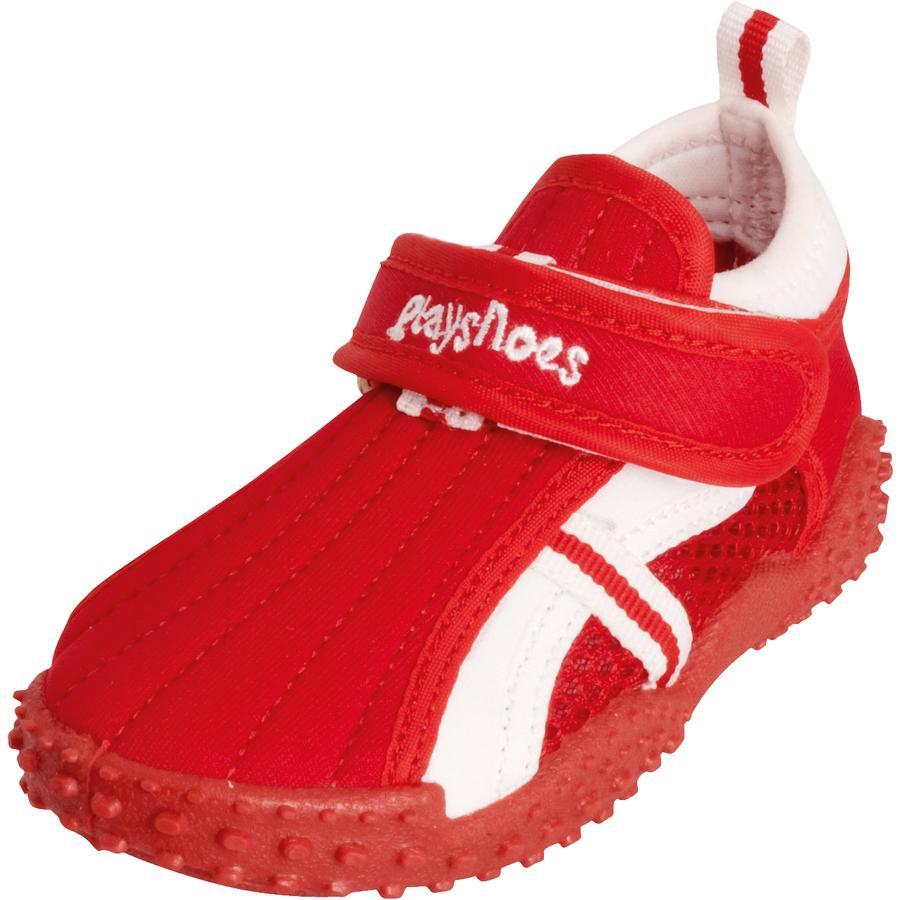 Playshoes Chaussons de bain enfant sport rouge