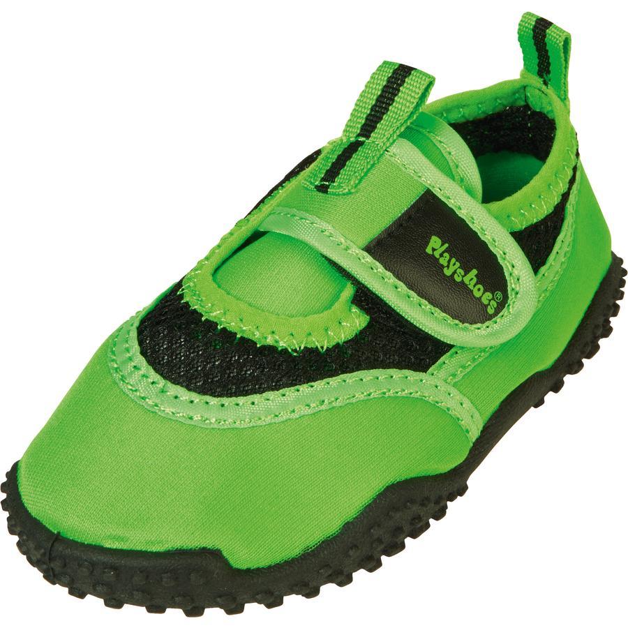 Playshoes Chaussons de bain enfant vert fluo