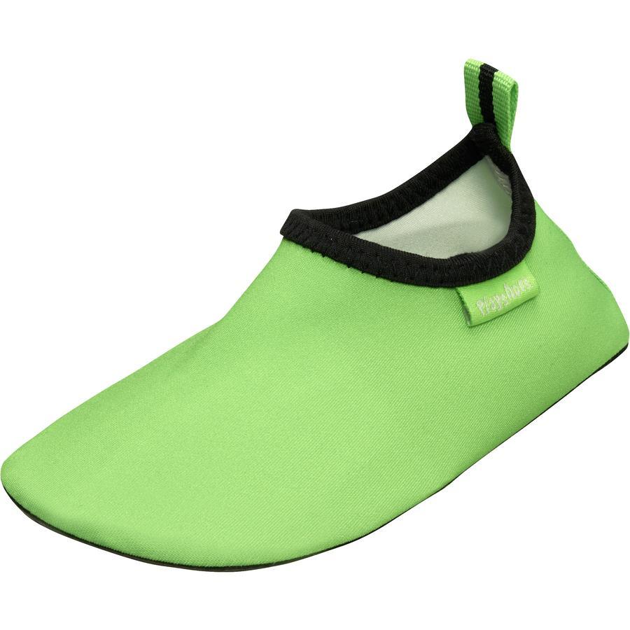 Playshoes Chaussons de bain enfant vert uni