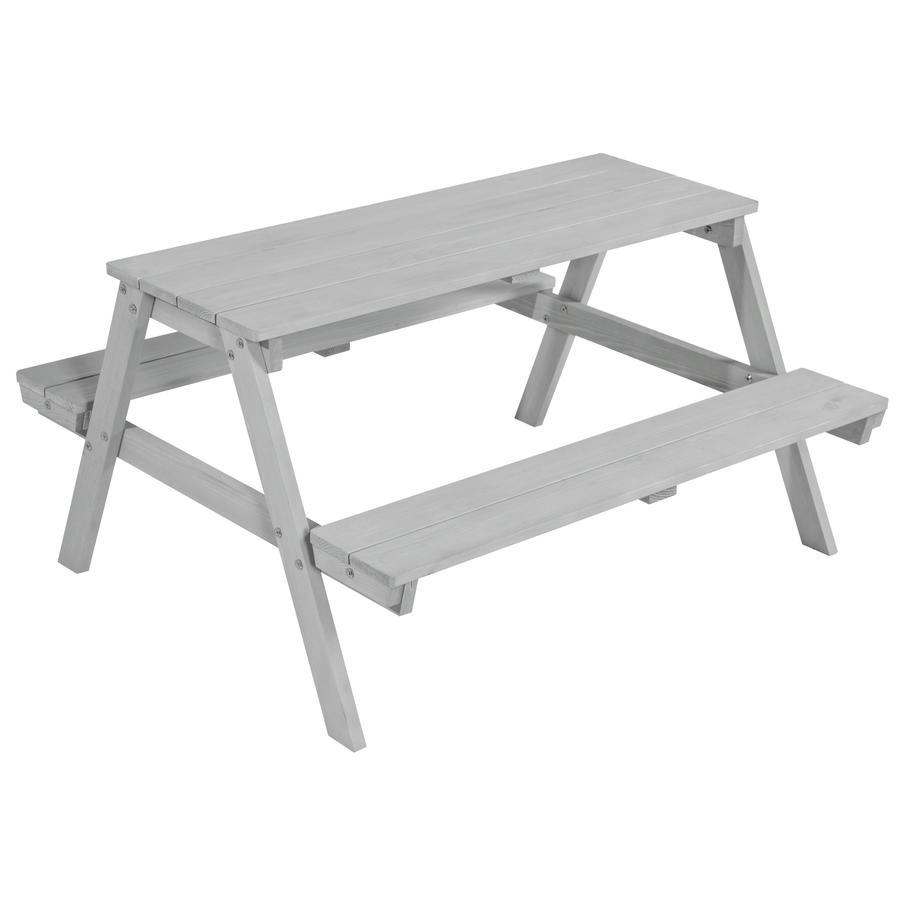 roba Stół piknikowy z ławami Picknick for 4, szary