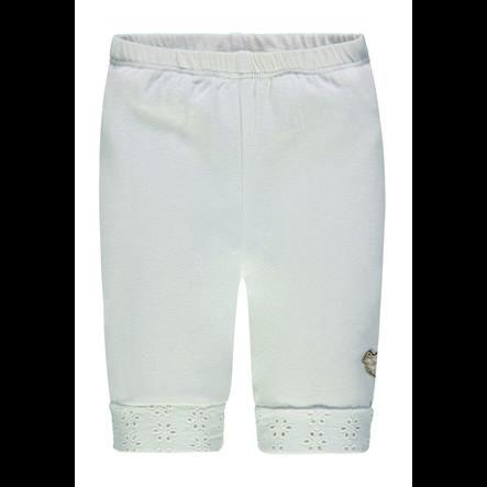 Steiff Girls Capri Leggings, weiß