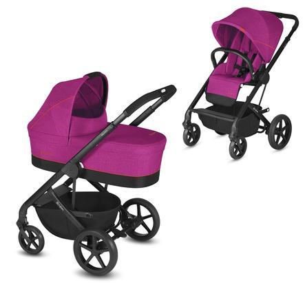 cybex GOLD Kinderwagen Balios S und Kinderwagenaufsatz Cot S Passion Pink inklusive Adapter