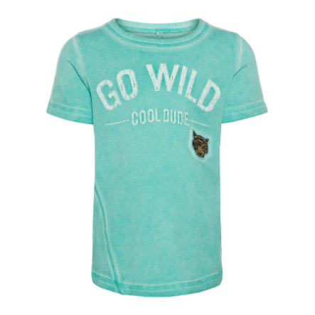 name it Boys T-Shirt Gaxel piscine bleu