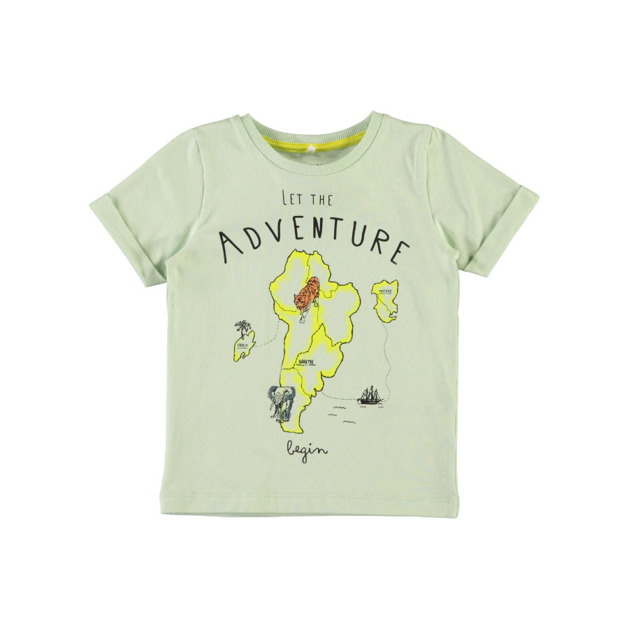 name it Boys T-Shirt Gabillon poussiéreux aqua