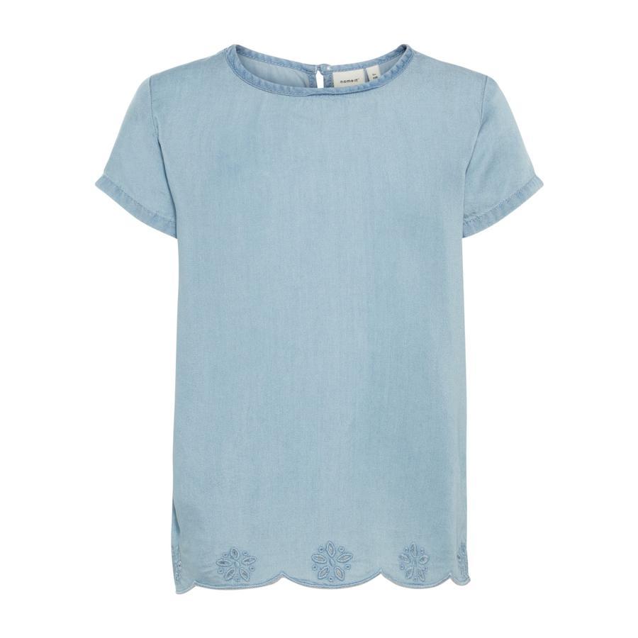 name it Girl s T-Shirt Akkamma lichtblauw denim