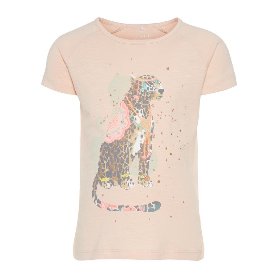 name it Girl s T-Shirt Garfisola peachy keen