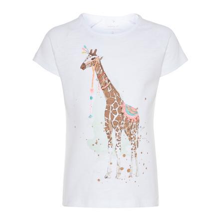 name it Girls T-Shirt Garfisola bright white