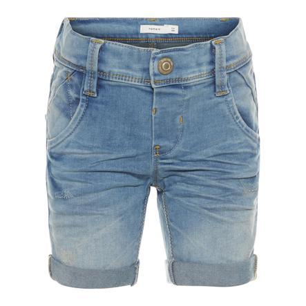 name it Boys Shorts Sofus light blue denim