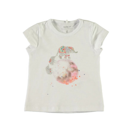 name it Girl s bianco T-Shirt brillante