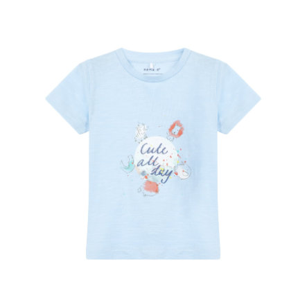 name it Girl s Blu cashmere T-Shirt Gaman cashmere