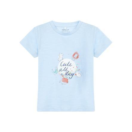 name it Girl s T-Shirt Gaman azul cachemira