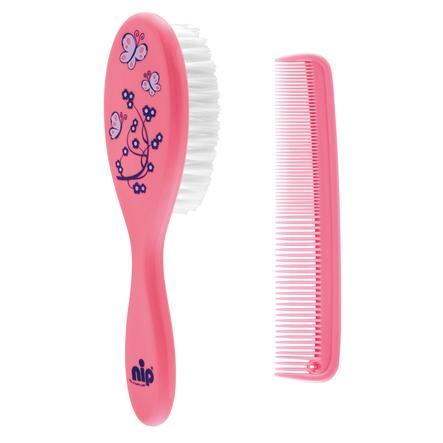 štětka na péči o vlasy & hřeben růžová