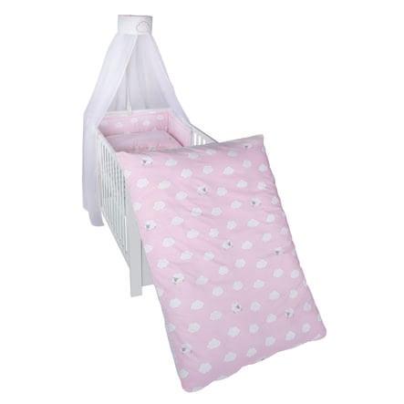 roba Kinderbettgarnitur 4-teilig Kleine Wolke rosa 100 x 135cm