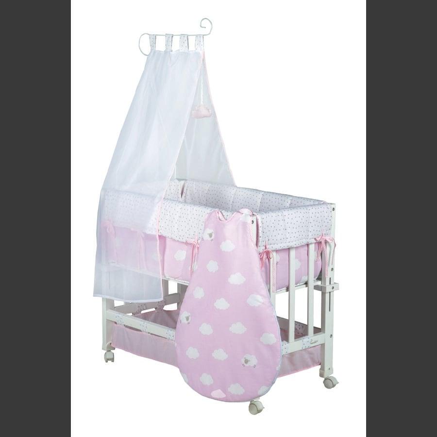 Roba Babyseng Lille lyserød sky 3 i 1 hvid