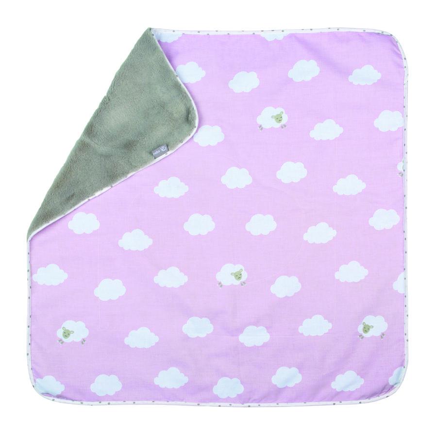 roba knuffeldeken 80 x 80 cm Kleine Wolk rosa