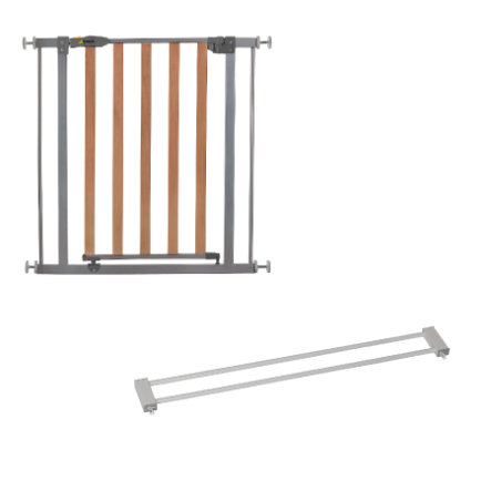 Hauck cancelletto wood lock safety gate silver for Prolunga cancelletto hauck