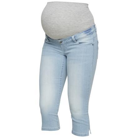 mama licious těhotenské džíny MLJOSIE light modrá džínovina