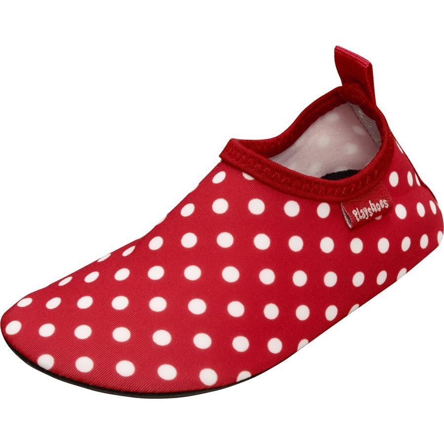Playshoes Chaussons de bain enfant pois rouge uni