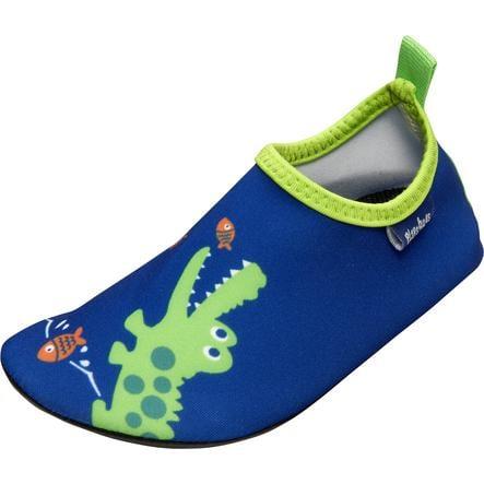 Playshoes Scarpe da bagno Coccodrillo marina