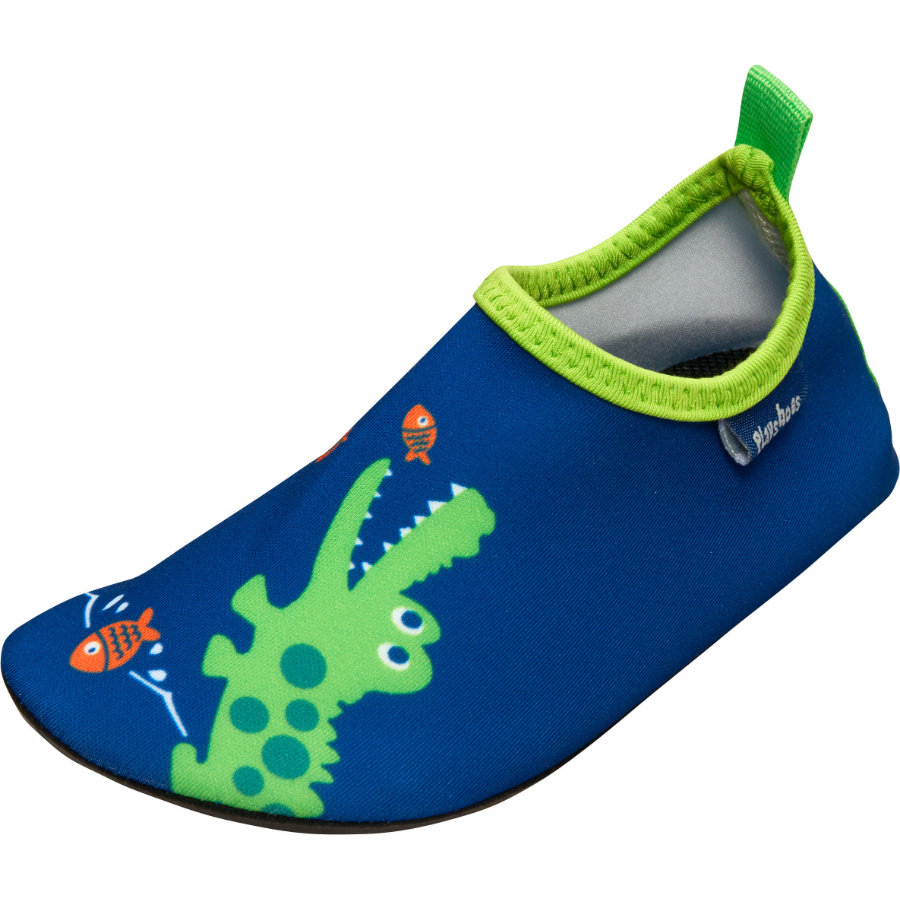 Playshoes Badschoen Krokodil marine
