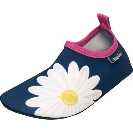 Playshoes dětské nazouvací protiskluzové boty Kopretina, marine