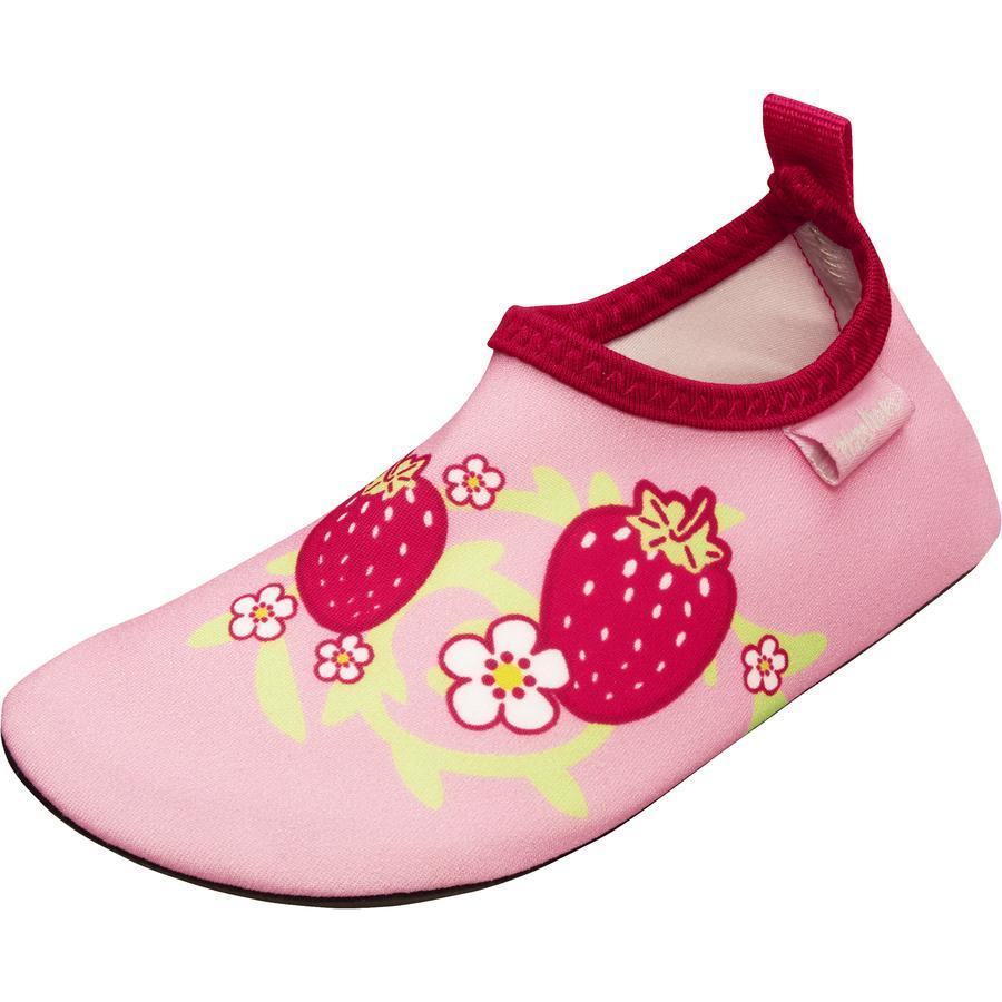 Playshoes Chaussons de bain enfant fraise rose