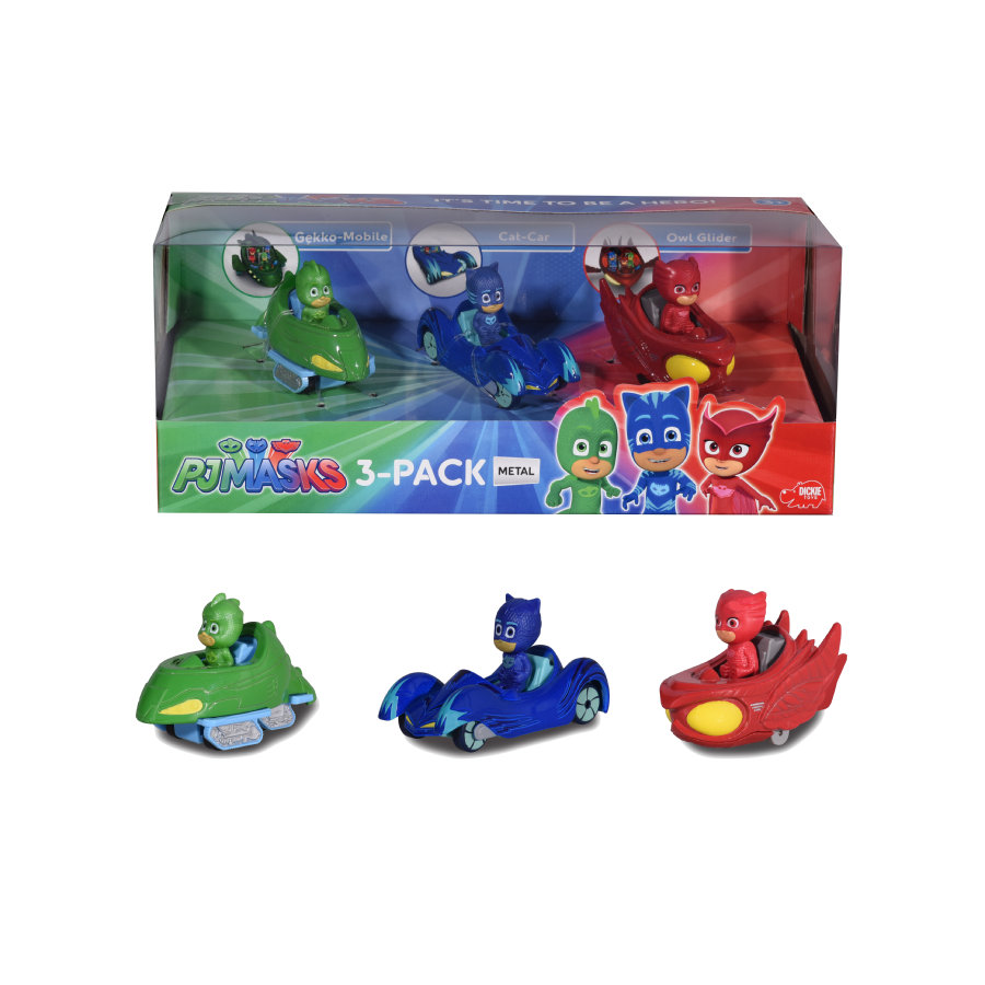 DICKIE Toys Figurines Pyjamasques, 3 pièces