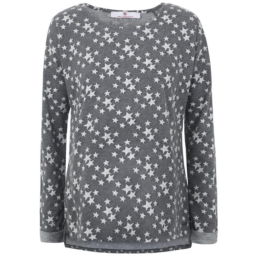 bellybutton  Sweatshirt til gravide kvinder, grå med stjerner