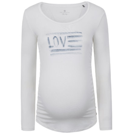 bellybutton Camisa manga larga de maternidad Love, blanca