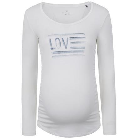 bellybutton Moederschap shirt met lange mouwen Liefde, wit