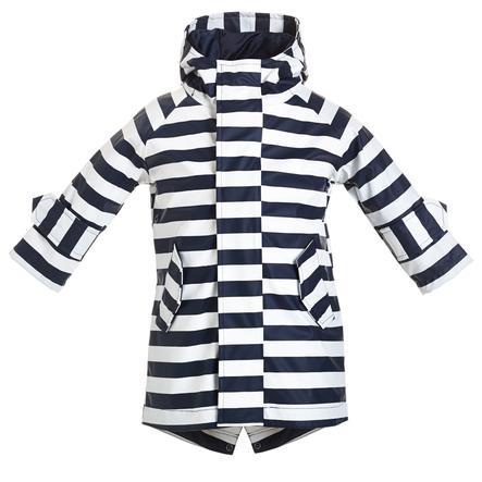 BMS HafenCity® Skin® Płaszcz przeciwdeszczowy w paski w kolorze morskim