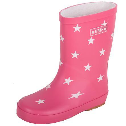BMS Gummistiefel Naturkautschuk Sterne pink
