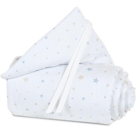 babybay® Nestchen Organic Cotton Mini/Midi Sternenmix sand/azurblau 157x25 cm