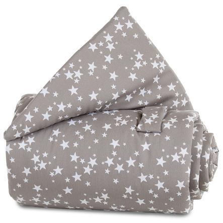 babybay Gitterbeskyttelse taupe stjerner hvit