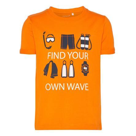 name it Boys T-Shirt Vux arancione shocking