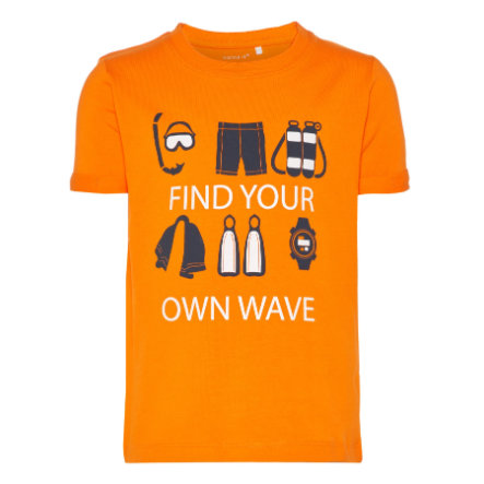 name it Boys T-Shirt Vux naranja chocante