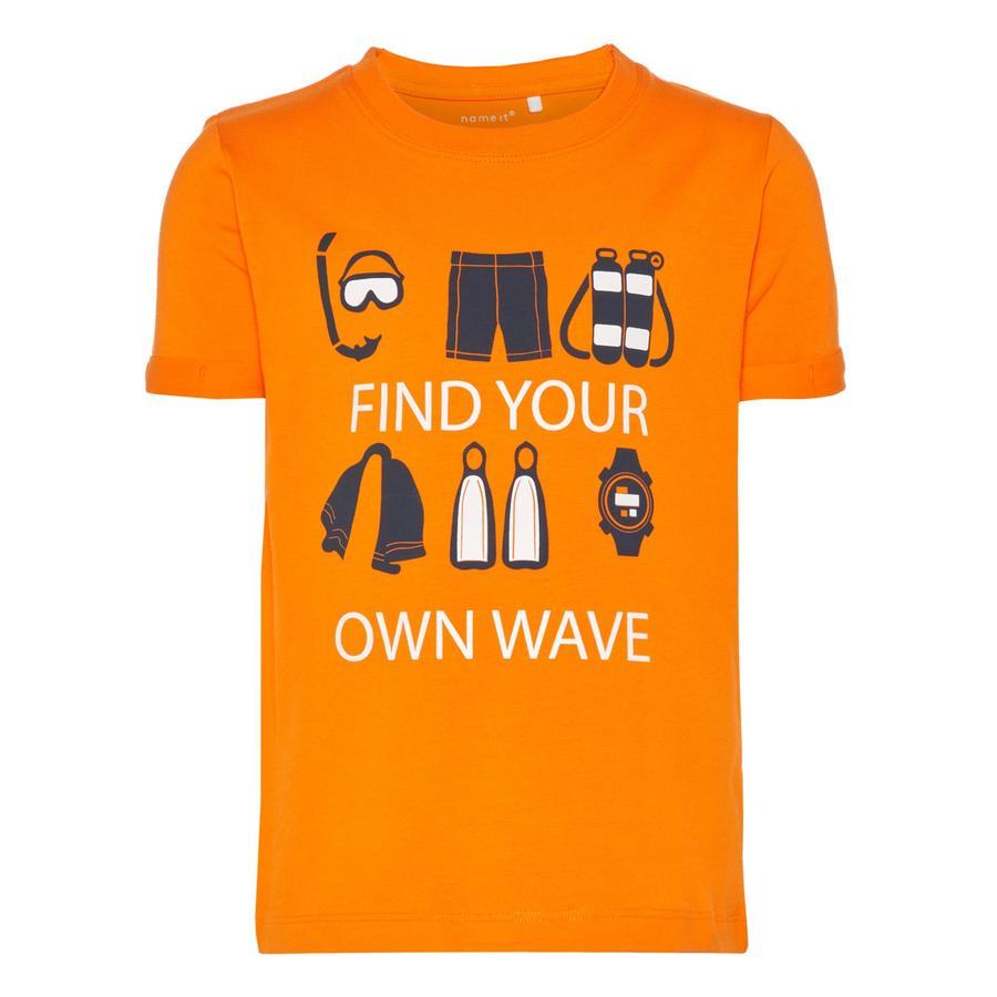 name it Boys T-Shirt Vux schokkend oranje