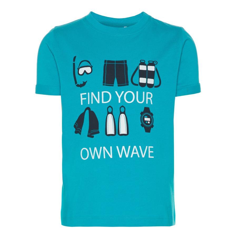 name it Boys T-Shirt Vux azul lago