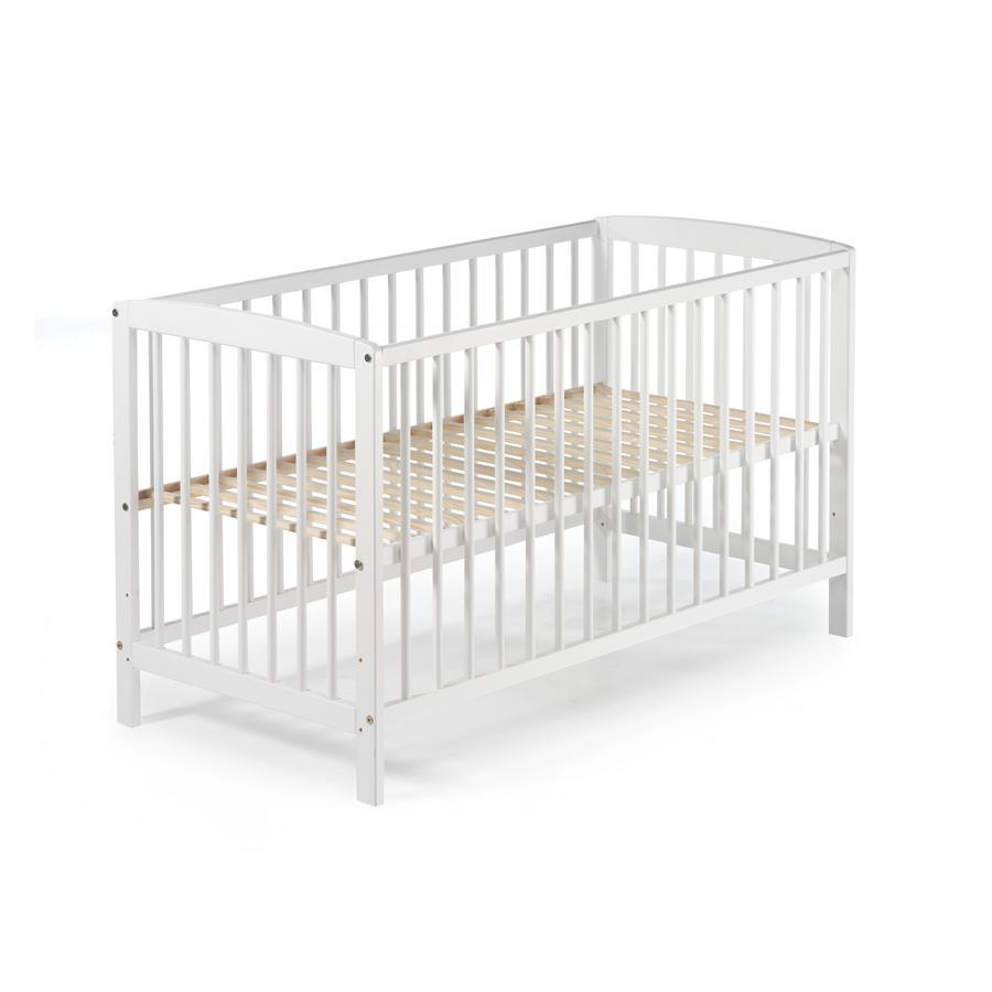 Schardt Lit enfant à barreaux Felix bois blanc 60x120 cm