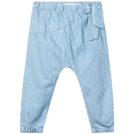 name it Spodnie bawełniane Rie jasnoniebieski denim