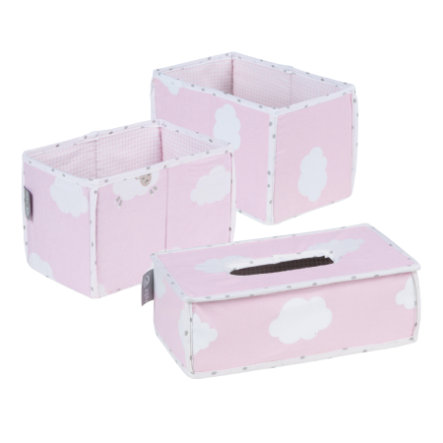 roba verzorgingsorganizer 3-delig Kleine wolk roze