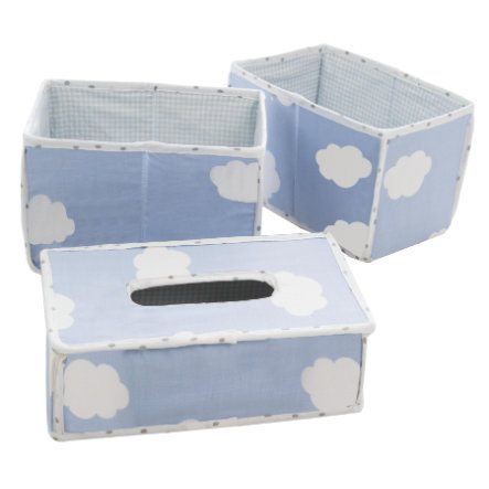 roba Care Organizer Sett med 3 små skyblå