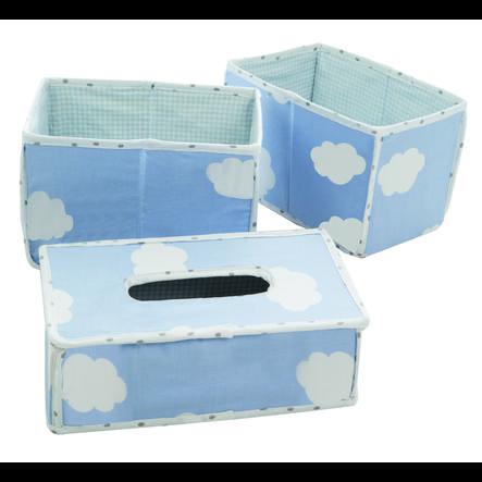 roba Organizer 3-pack blue cloud