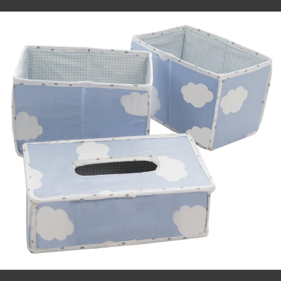 roba Boîtes de rangement lange petit nuage bleu, 3 pièces